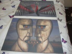 2 pink floyd canvases The division Bell/The wall