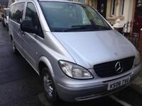 2006 06reg Mercedes Vito Traveliner 2.1 Cdi Silver 9 Seater mini bus