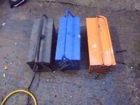 3 x metal tools box