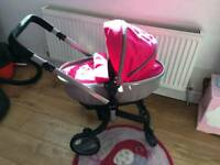 Silvercross surf dolls pram and baby annabell with accesories