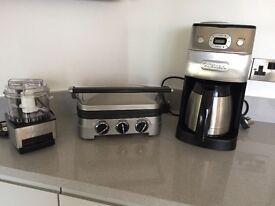 Coffee maker/Health Grill/ mini food chopper and set of cast iron pots