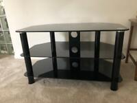FREE - BLACK GLASS TV STAND PERFECT CONDITION