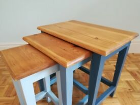 Farmhouse Nest of Three Pine Tables