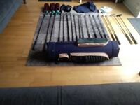 Ladies Ryder golf clubs RH plus extra clubs with bag (used)