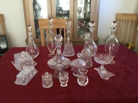 Decanters,and small glass items