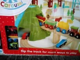 Brand new mega 150 piece 7 track wooden train set