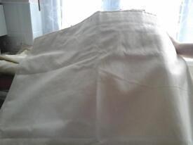 Large Cream curtains