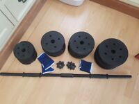 Brand new weights and bar