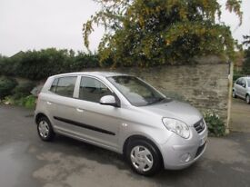 KIA PICANTO 2009, 5 DOOR HATCHBACK ONLY 49K MILES+HISTORY+£30 ROAD TAX.