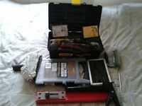 TOOLS WITH BOX AND ABIT OF EVERYTHING