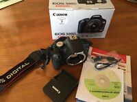 Canon 500d slr. Immaculate condition.