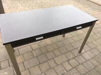 Leather effect writing desk
