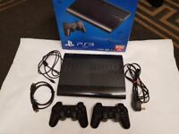 Ps3 super slim 500gb 1 x controller boxed hdmi usb power cable