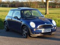 Mini cooper/one with pan roof and a brand new clutch.