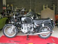 BMW R60/6 1976 in original unrestored time warp condition.