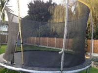 Trampoline 12ft With netting all the way round good condition buyer collects and dismantle