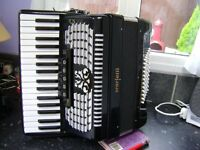SCARATTI 72 BASS ACCORDION WITH CASE