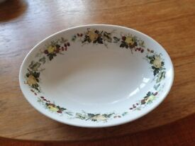 TWO ROYAL DOULTON OPEN OVAL VEGETABLE DISHES