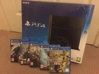 New PS4 (C chassis) & 6 Games (2 New)