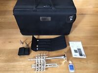 Yamaha Custom YTR-9835 Bb/A Piccolo Trumpet Silver Plated + case & mouthpieces. Immaculate condition