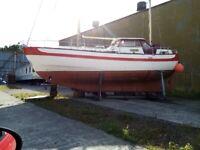 10m motor sailer ketch.