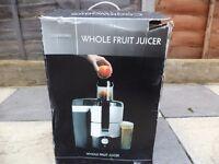 Cookworks signature whole fruit juicer £25