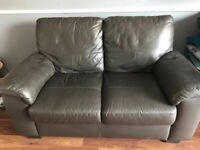 Free Two Seater Faux Leather Sofa.