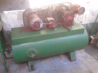 Garage TOOLS : INGORSOLL RAND TYPE 30 . . SMALL V TWIN COMPRESSOR . To Clear £125