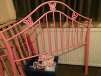 Girls pink butterfly bed