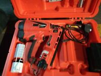 PASLODE ANGLE BRAD NAILER (IM65A-F16) WITH CHARGER, CASE AND SPARE GAS CANNISTER