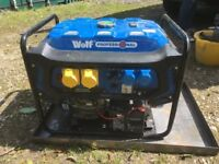 Virtually new 7.5KW Wolf Generater