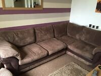 Sofa left hand, swivel chair and footstool