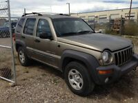 Selling my 2003 jeep liberty for parts