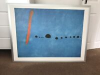 Large Picture - Modern Miro Bleu