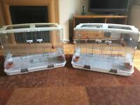 2x vision bird cages plus connectors to make into one large cage