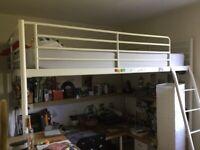 High sleeper double bed with mattress Ikea