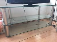 Large 3 tier Glass TV Stand for sale