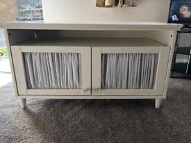 Solid antique style tv unit / side table