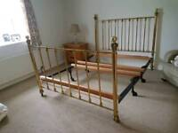 Ornate Laura Ashley style brass bedstead
