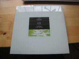 Lovely white glass, bevelled edge photo frame