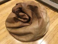 Italien Leather beanbag