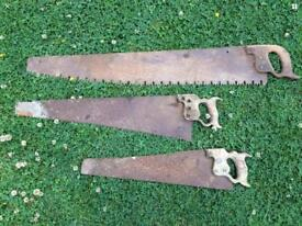 Old, blunt, broke, rusty saws wanted