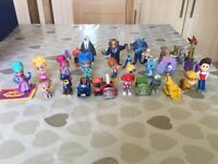 Figure bundle from, Paw patrol, shimmer and shine and Zootopia