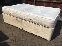 Double divan bed with mattress-£65 delivered