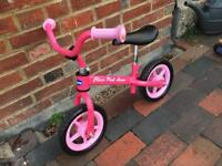 Brand new Chicco balance bike in Pink