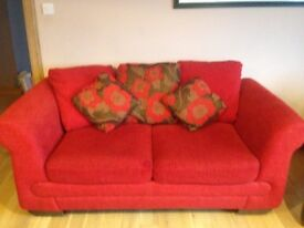 DFS lovely red sofa bed