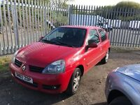RENAULT CLIO RED 2007 £695 £695