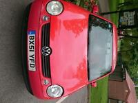 VW LUPO RED 51 PLATE