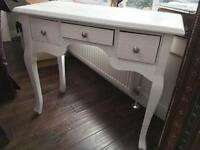 Shabby Chic French Style White Dressing Table with Drawers