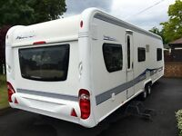 hobby caravan 720 prestige (2010) with Awning, Spare Wheel, Hitch Lock And Wheel Clamp.